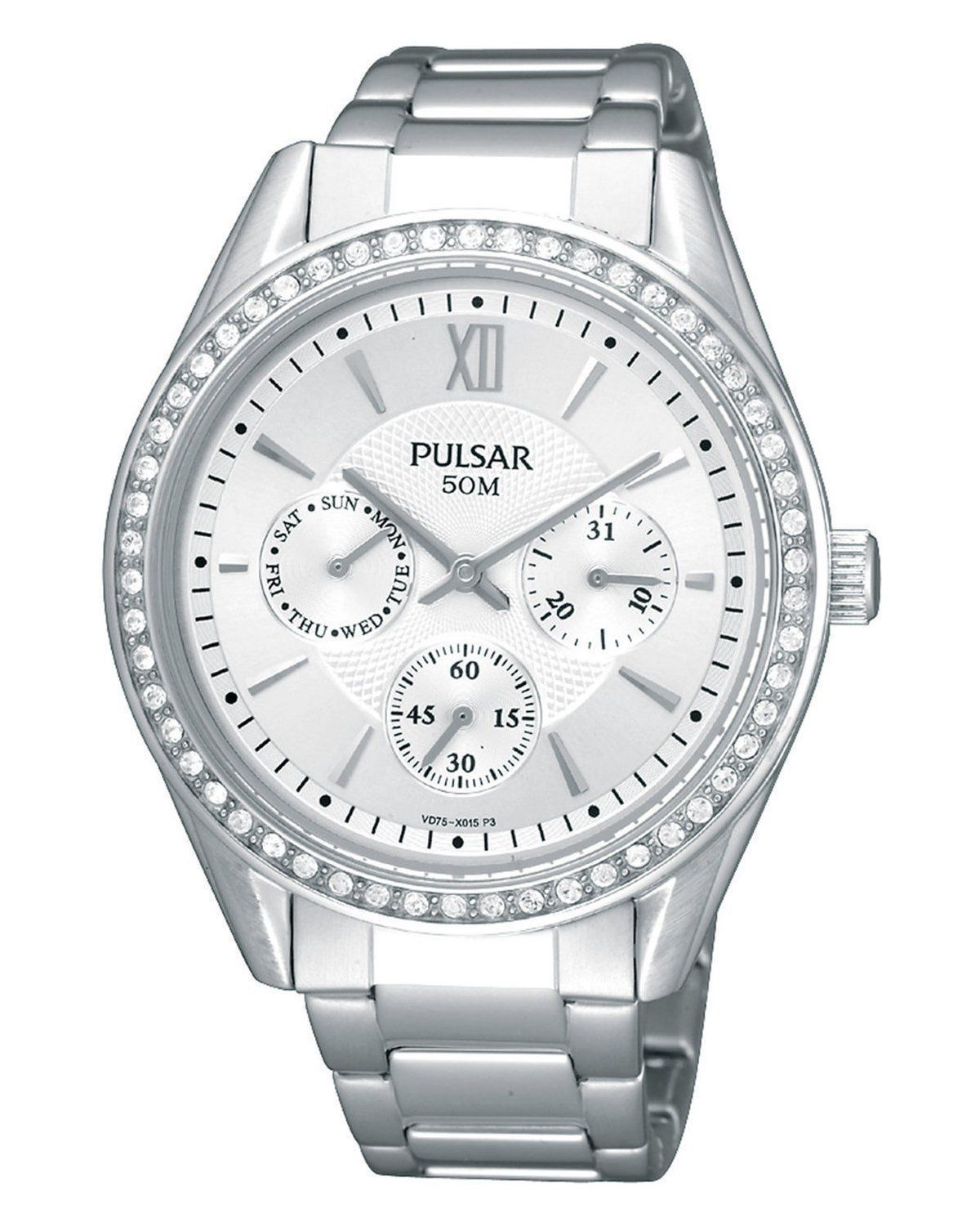 Pulsar Multifunction Crystals Silver Dial Women's watch PP6009