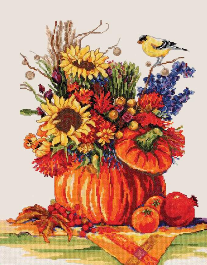 Fall festival cross stitch pattern