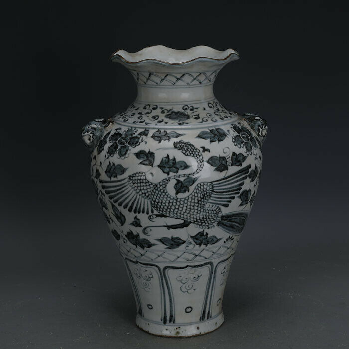 Primary image for Nice Chinese Ming Dynasty Blue White Porcelain Peony Vase