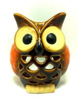 OWL TEA LIGHT CANDLE HOLDER CERAMIC HOME DECOR BRAND NEW - $21.99