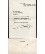 JOHN WAYNE Autograph on personal letter, inluding envelope. A beauty. - $1,088.01