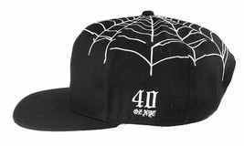 40 Oz NYC Forty Ounce New York Black Top Spider Web Snapback Baseball Hat NWT image 2