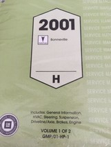 Chevrolet Bonneville 2001 Service Manual New Sealed 2 Volume GMP/01-HP-1... - $120.22