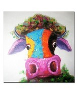 Muzagroo Art Cow Oil Paintings Modern Art Handpainted on Canvas Wall Dec... - $63.37 CAD