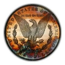 1886 PL MORGAN SILVER DOLLAR   TONING, KEY DATE * 261 - $142.10