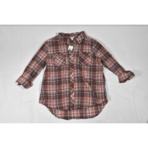 Womens Cato Long Sleeve / ¾ Sleeve Shirt Large Plaid Red Blue Rolled Cuf... - $14.69