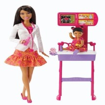 Barbie Careers Baby Doctor Doll Brunette And Playset Dressed Toy Gift Fo... - $59.99