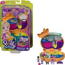 Polly Pocket Corgi Cuddles Compact with Pet Hotel Theme, Micro Polly & Shani Dol - $17.09