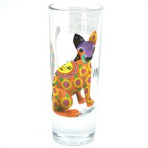 Jaguar Big Cat Alebrije Printed Design Tequila Shot Glass Shooter Made in Mexico