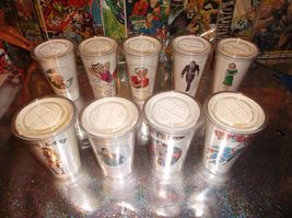1973 LOT of NINE 7-11 SUPERMAN FAMILY CUPS!! Original Releases & Nice!! - $75.00