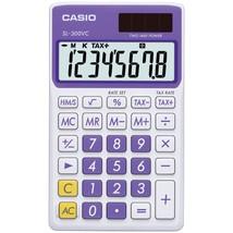 Casio Solar Wallet Calculator With 8-digit Display (purple) CIOSLVCPLSIH - $12.65