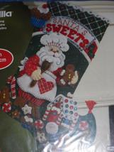 Santa's Bakery Felt Stocking Stitchery Kit by Bucilla 86437 - $16.82