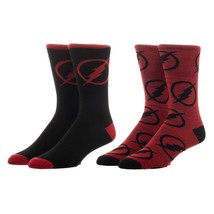 The Flash Dc Comics 2 Pack Casual Crew Socks Nwt - $9.95