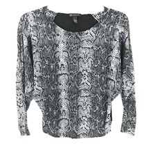 INC International Concepts Womens Shirt Size Small S Black Snake Long Sl... - $24.31