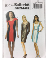 Butterick B5554 Womans Dress Sewing Pattern Sizes 16, 18, 20, 22 - $13.00