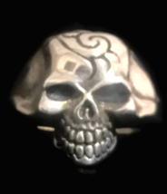 Biker Skull Sterling Silver Vintage Death Men Ring Size 14.25 - $65.00
