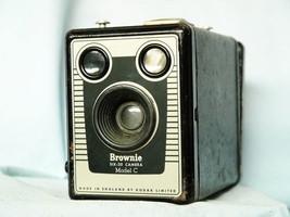 Kodak Brownie Six 20 Model C Art Deco - Vintage Box Camera - Nice - - $12.00