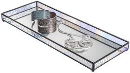 J Devlin TRA 103 Vanity Tray Glass Mirrored Jewelry Display Organizer 16... - $61.26
