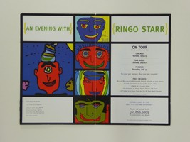 An Evening With Ringo Starr Tour Promo Flier Flyer Art Exhibition, The B... - $79.19