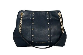 NEW MICHAEL KORS JET SET LARGE NAVY BLUE STUDDED LEATHER SHOULDER BAG PURSE - $159.00