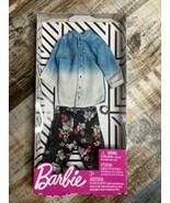Barbie KEN Fashion Denim Shirt Shorts Summer Clothes Outfit Works For Sh... - $12.86