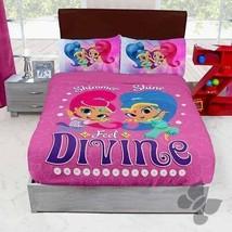 Nickelodeon Shimmer & Shine Divine Pink Fleece Blanket New Girls Home Be... - $34.60