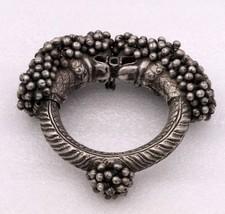VINTAGE OLD ANTIQUE GENUINE SILVER CUFF BRACELET WOMEN'S TRIBAL JEWELRY ... - $445.49