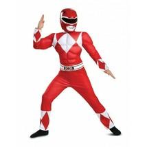 Disguise Potencia Rangers Rojo Muscle Poderoso Morphin Niños Disfraz Hal... - $34.32