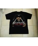 Original Assassins Creed Video Game Ubisoft Logo Release T Shirt L - $17.17