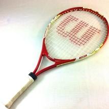 "Wilson US Open 21"" Junior Youth Tennis Racket 3-5/8 Titanium 16/18 Red U... - $14.84"