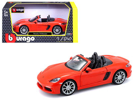 Porsche 718 Boxster Orange 1/24 Diecast Model Car by Bburago - $26.99