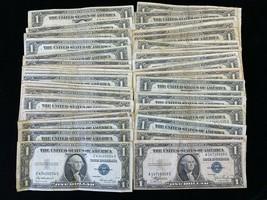 Bulk LOT (50) $1 1935 Silver Certificates notes $50.00 Face  Please read - $130.00
