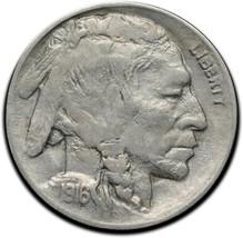 1916D Buffalo Nickel Coin Lot# A 327