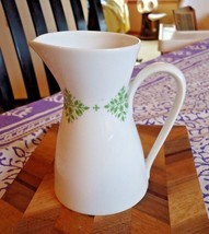 """Rosenthal Creamer Small 4.5""""H Pitcher 'Classic Modern' with Green Flowers - $14.85"""