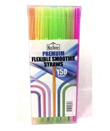 """Max Home 7.5""""l Smoothie Straws, Premium Flexible Multi Color Plastic (15... - $12.79"""