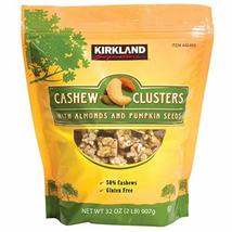 Kirkland Cashew Clusters with Almonds and Pumpkin Seeds Gluten Free 32 o... - $38.60