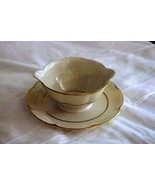 Theodore Haviland Concorde Gravy Boat With Attached Under Plate - $22.67
