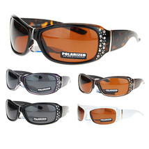 No Glare Polarized Rhinestone Bling Iced Out Butterfly Designer Sunglasses - $12.95