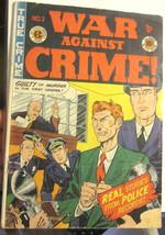 WAR AGAINST CRIME #2 EC COMICS Dec. 1948 --OLD - $185.33
