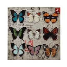 Room Wall Art, Butterfly Collage 3d Rustic Mount Living Metal Wall Art D... - $39.49