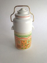 "Vintage Avon Patchwork Cologne Mist Thermos Decanter EMPTY Bottle 5"" Tall - $7.80"