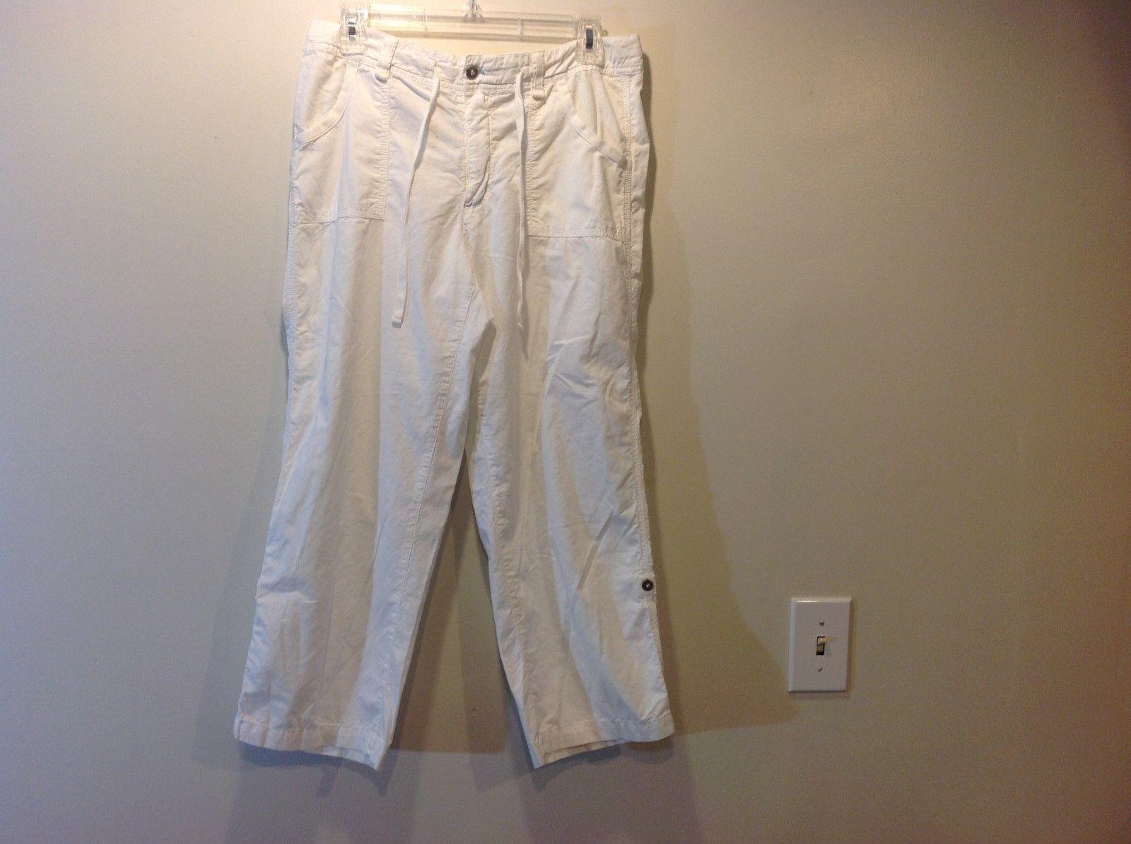 Fresh Produce Ladies White Versatile Casual Pants Sz S