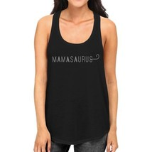 Mamasaurus Womens Black Sleeveless Graphic Tee Gift For Mom of Boys - $14.99