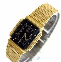 100% Auth Rado Ladies Watch Quartz Black Dial SS Belt RADO Used 121.9559.2 - $296.01
