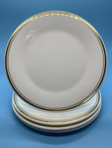 Set of 4 Royal Doulton English Fine Bone China Gold Concord Rim Salad Pl... - $24.70