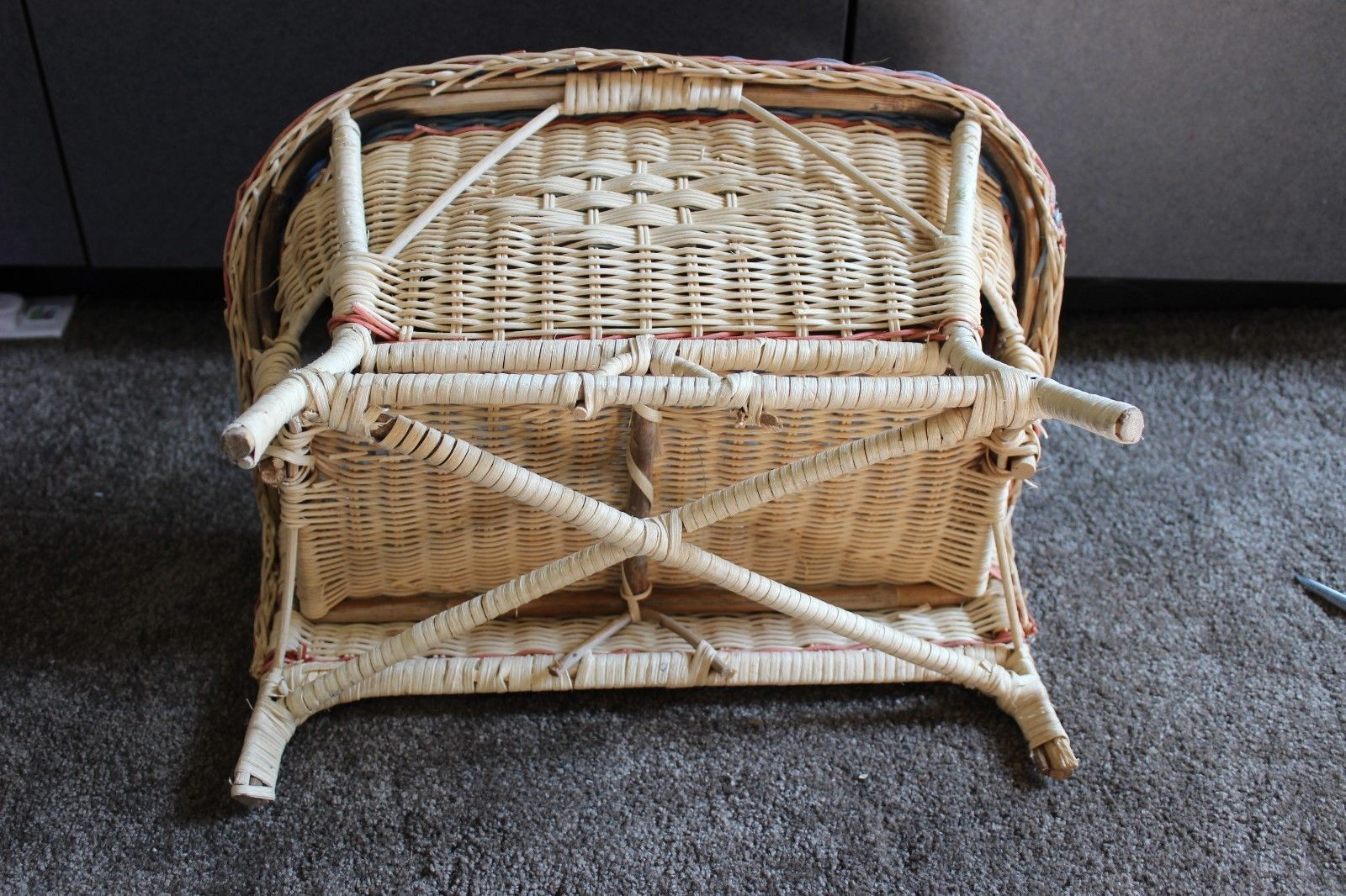 Wicker Rattan Wood Love Seat Bench Chair and 10 similar items