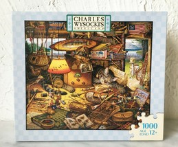 Charles Wysocki's Americana Max In The Adirondacks 1000 Pc Puzzle - Hasbro NEW - $28.45