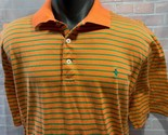 POLO GOLF Ralph Lauren Orange Green Shirt Size L