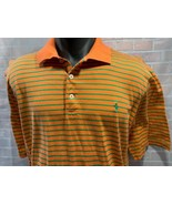 POLO GOLF Ralph Lauren Orange Green Shirt Size L - £15.13 GBP