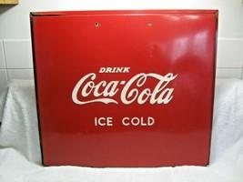 Vintage Collectible Rare COCA-COLA Embossed Cooler Lid-Wall Art-Restorat... - $249.95